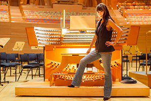 Carol Williams at the Disney                   Concert Hall Organ