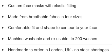 face mask info