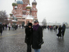 Carol Williams and Kerry                       in Red Square Moscow